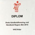 Vinder af Årets Håndboldforening 2016 – VHC/Vidar
