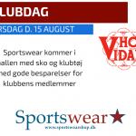 Sportswear Klubdag tirsdag den 15. august